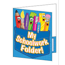 school work personalised folders