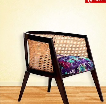 Kipling Arm Chair with Multi-coloured Seat by Bent Chair