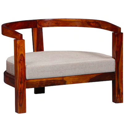 Omaha Arm Chair in Honey Oak Finish by Woodsworth