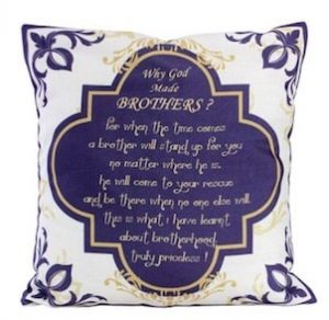 brother quote cushion cover