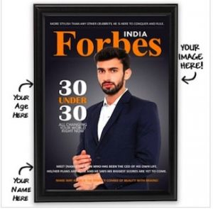 forbes cover personalised frame brother rakhi