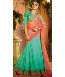 nallu collection mint lehenga