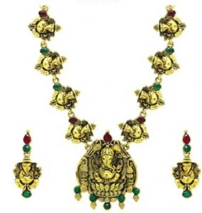 zaveri pearls temple jewellery ganesh