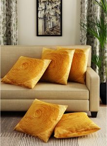 Alina Decor Mustard Cushion Covers