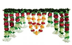 Cloth Flower Door Toran with Plastic Jasmine