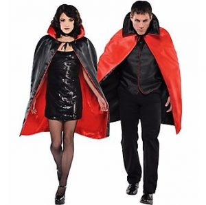 Halloween Reversible Red & Black Cloak - Halloween Costume for Couples