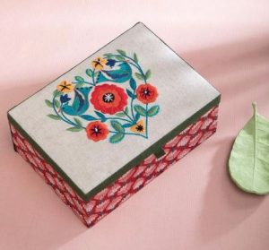 Indigo Bunting Jewellery Box