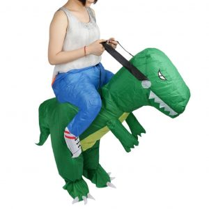 Imported Inflatable Dinosaur Riding Halloween Costume for Men