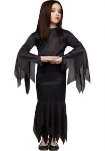 Witch Halloween Black Fly Gown for girls