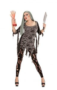 Zombi Tattered Dress - Halloween Costume for Women