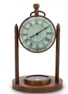 Handcrafted Brass Table clock