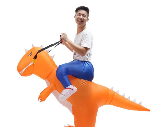 Inflatable Dinosaur Riding