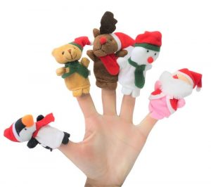 Santa and his helpers - Finger puppets