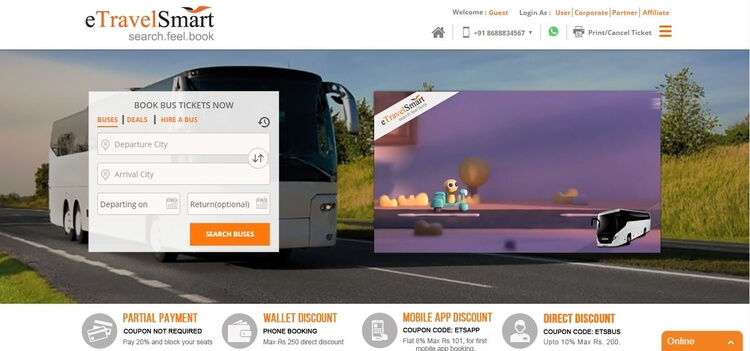 eTravelsmart -Bus Ticket Booking