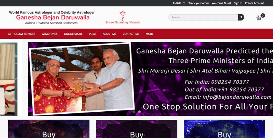 Bejandaruwalla.com website