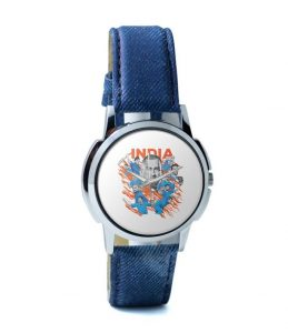 Men in Blue wrist watch