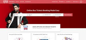 Redbus Website Home Page