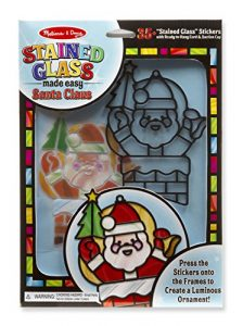 Mellisa and Doug Stained Glass Santa