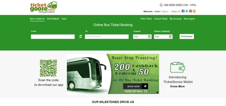 TicketGoose - Bus Booking