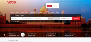 Booking a bus tickets on Yatra