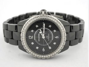 Chanel Black Ceramic Diamond Watch