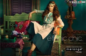 Melange Indian ethnic wear with a touch of western influence