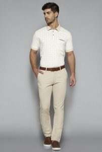 Beige polo t-shirt by Westside