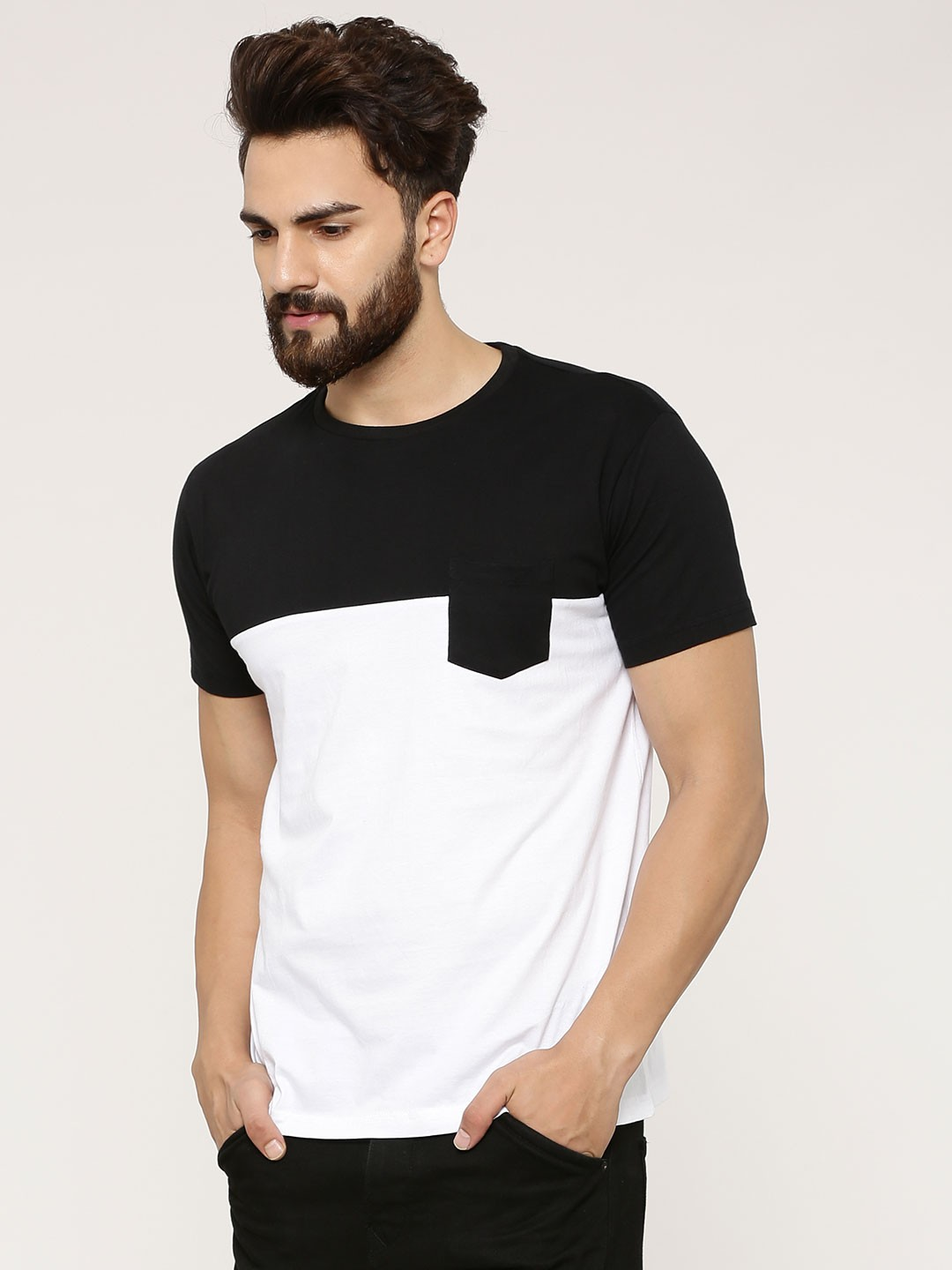 Spring Break colour block t-shirt by Koovz