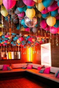 Light up decorating the room with LED Balloons