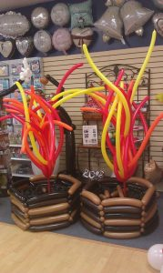 Fire balloons - décor for Lohari