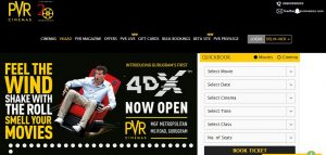 PVR Cinemas online movie tickets booking website