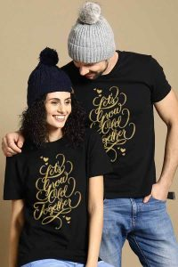 growing old matching couples valentines day tees