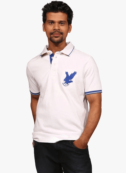 White collared t-shirt by Provogue