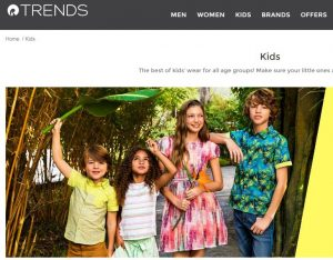 Reliance Trends Website clothing for boys and girls