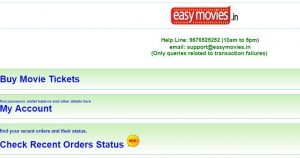 Easymovies.in - online ticket booking website