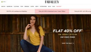 FabAlley Website online shopping store for western and Indian clothes