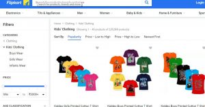 Flipkart Website for kids' clothes