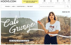 Koovs Website clothes and accessories for men and women