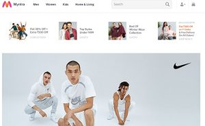 Myntra Website for women's and menswear