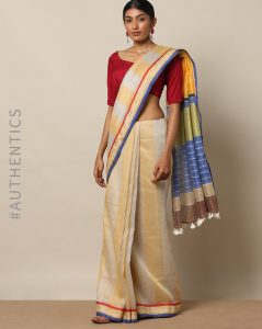 Linen saree from Indie Picks