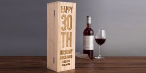 Personalised wine bottle case