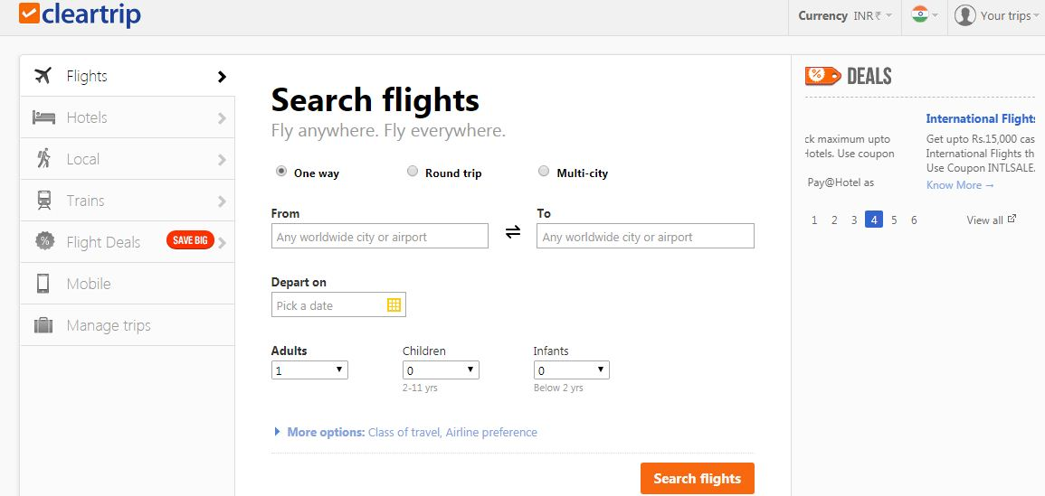 Cleartrip - Travel Booking Site