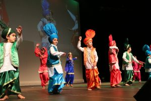 Bhangra flash mob for kids