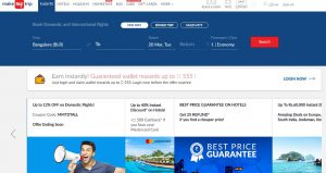 MakeMyTrip Travel Booking Site