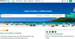 Tripadvisor travel booking website