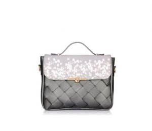 print weaved satchel Satya Paul