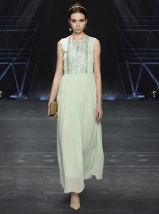 Label Ritu Kumar Green Embroidered Maxi Dress
