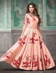 Traditional Pink Gown from Bawree