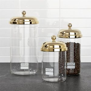 Bodum chambord classic gold storage jars set