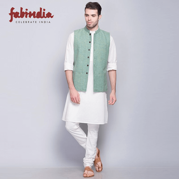 Cotton Nehru Jacket from Fab-India